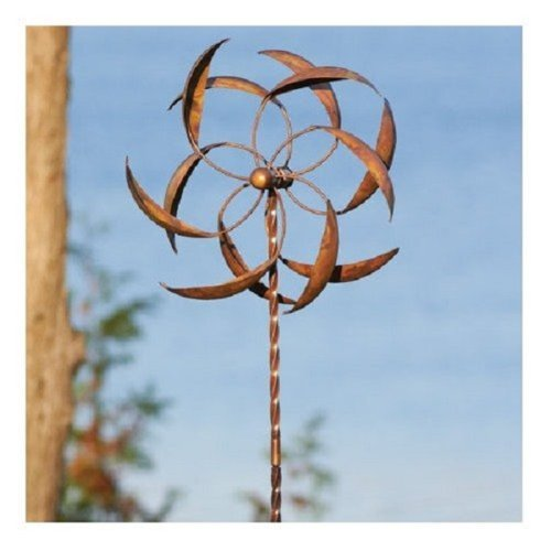 Ancient Graffiti Kinetic Large Dual Feather Spinner by Ancient Graffiti