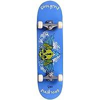 BUSYALL Pro Skateboards Completos Monopatín 30 Pulgadas de Madera Estilo Crusier Retro para Adultos Adolescentes y Niños, Carga Máximo 150 KG, Resistente y Ligero, 78 x 20 x 10cm, (EU STOCK)