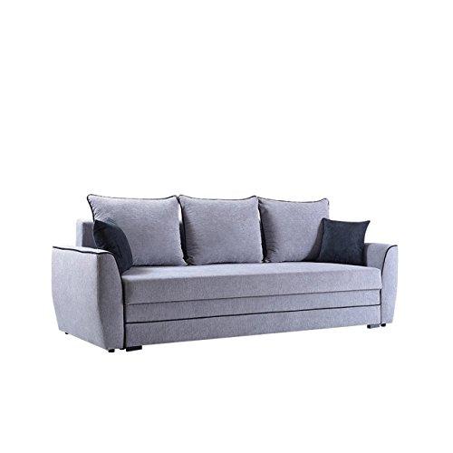 Schlafsofa Aztek mit Bettkasten, Schlaffunktion, Design Funktionssofa, Modernes Couch, Schlafcouch Schlafsofa Bettsofa (Alfa 13 + Alfa 21)