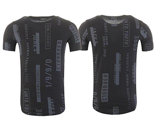 JACK & JONES Herren T-Shirt JCOMANUAL TEE SS, in 3 Variationen, mit coolem Logo-Print Black