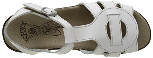 FLY London Kail898, Sandales Bout Ouvert Femme Blanc Cassé (Off White 007)