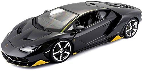Preisvergleich Produktbild Maisto Lamborghini Centenario: Modellauto mit Federung, Maßstab 1:18, Türen und Motorhaube beweglich, Fertigmodell, lenkbar, 27 cm, Schwarz (531386)