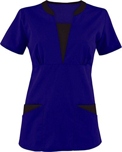 TAILOR'S Damen Scrub/Still Uniformen/Medical Scrubs Top Gr. X-Large, königsblau (Medical Uniform-top)