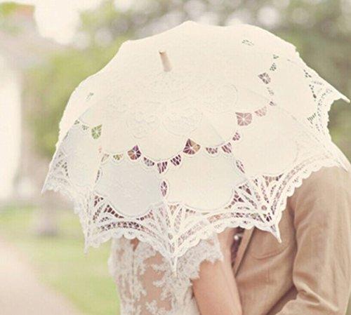 Vintage Brautschirm beige