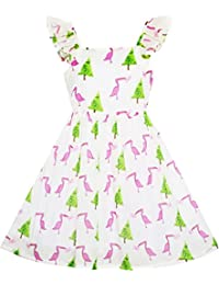 Sunny Fashion - Vestido animal print para niña rosa