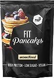 nu3 Fit Pancake - 240g Glutenfreie Backmischung für Pancakes & Pfannkuchen - 28,3g Protein pro 100g - nur 7,3% Fett - aus Mandel und Reismehl - Ideal für ein Proteinreiches Frühstück - Vegan