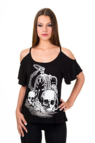 Banned Apparel - Skull Watch T-shirt S
