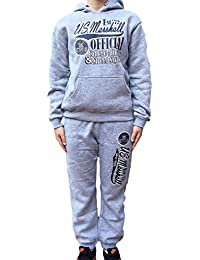 US Marshall - Chandal deportivo infantil unisex, color gris, gris, 10 años