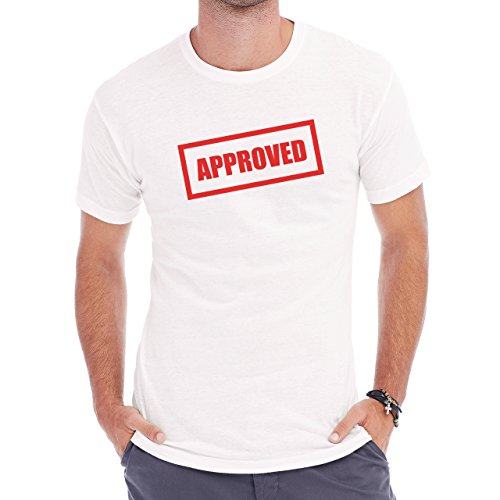 Red Approved Square Angle Herren T-Shirt Weiß