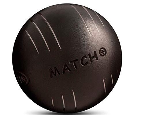 Obut Match 74mm-Pétanque-Kugeln, Härtegrad +, schwarz, 710g