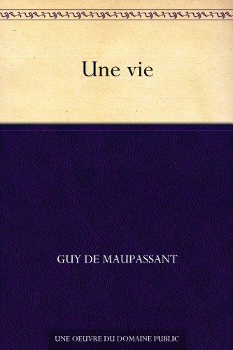 Couverture du livre Une vie