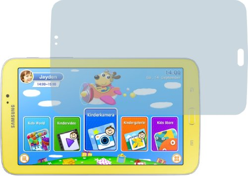 4ProTec 2X Samsung Galaxy Tab 3 Kids SM-T2105 ENTSPIEGELNDE Displayschutzfolie Bildschirmschutzfolie Schutzhülle Displayschutz Displayfolie Folie