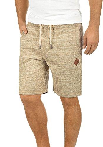 !Solid Aris Herren Sweatshorts Kurze Hose Jogginghose Mit Melierung Und Kordel Regular Fit, Größe:S, Farbe:Dune (5409)