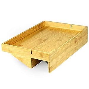 Bamboo Clip – On Nachttischregal | Ergonomischer Space Saver Beistelltisch | Einzigartige Holzbettrahmenklemme | M&W