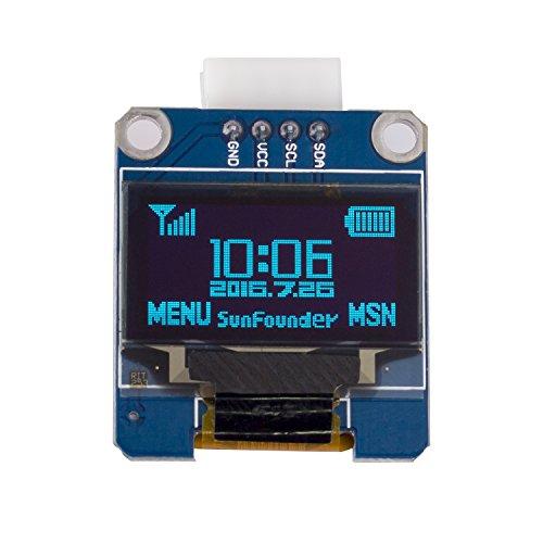 "Preisvergleich Produktbild SunFounder 0.96"" Inch Blue I2C IIC Serial 128x64 OLED LCD LED SSD1306 Module for Arduino Raspberry Pi Display"