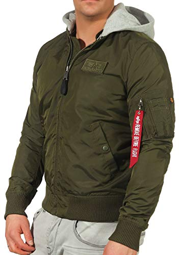 Alpha Industries MA-1 TT Hood Bomberjacke Dark Green
