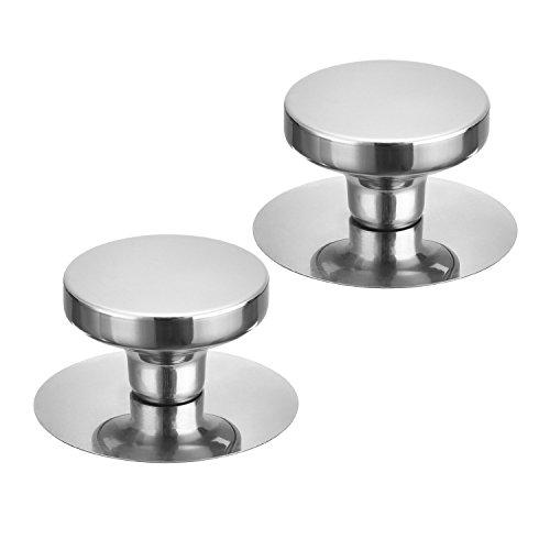 Universal Pot Lid Cover Knob Handle, ICEBLUEOR Kitchen Cookware Replacement Pan Pot Handgrip Lid Knob Cap, 2 Set