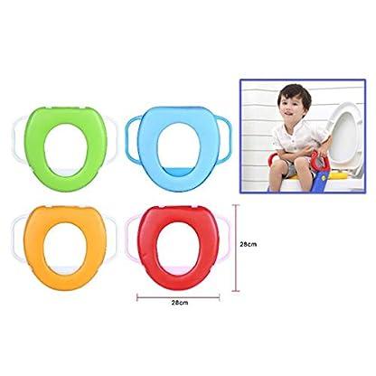 41nxHlU9ahL. SS416  - Cisne 2013, S.L. Tapa Asiento para Inodoro para niños con reposabrazos Antideslizante. Reductor Inodoro niño WC. Medidas 25x25cm. Color Verde.