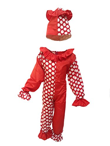 KFD Clown Fancy dress for kids,Diseny Cartoon Costume for Annual function/Theme Party/Stage Shows/Competition/Birthday Party Dress