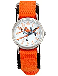 Disney Jungen-Armbanduhr Planes Analog Quarz Orange WCL001153