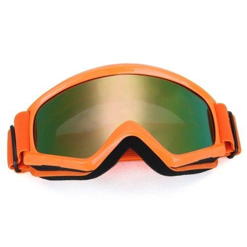 Dcolor 1x Crossbrille Schutzbrille Motocrossbrille Skibrille Reflektierenlicht Orange