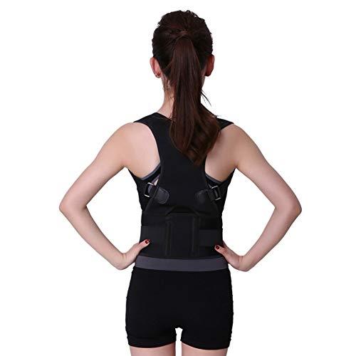 Back support houlian shop Einstellbare Rückenhaltung Körperkorrektor Magnetfeldtherapie Körperhaltung Korrektor Brace Schulter Rückenstütze Stützgürtel NO Slouching (Size : XL) (Therapeutische Back Support Brace)