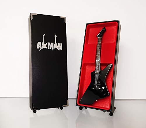 Miniatura Guitarra Replica: James Hetfield-ESP negro snakebyte-Modelo Mini Rock Memorabilia réplica de madera miniatura guitarra & Libre Pantalla Soporte (vendedor de Reino Unido)