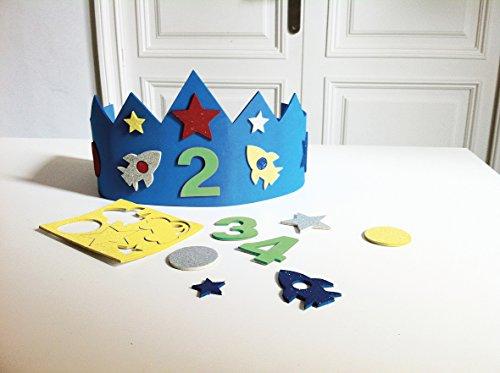 APLI Kids Corona cumpleaños goma EVA azul 1 ud