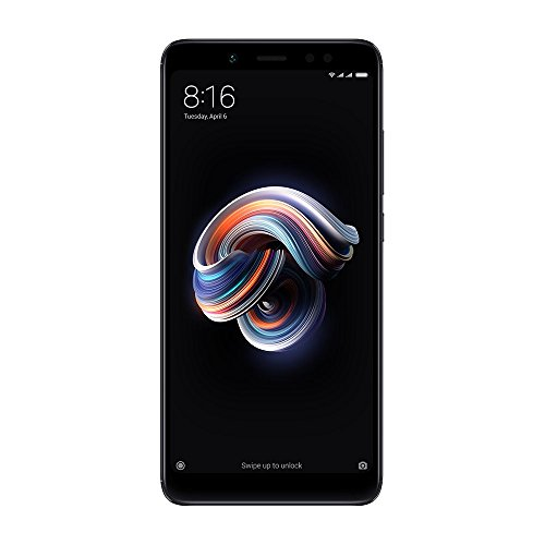 "Xiaomi Redmi Note 5 Smartphone de 5.99 ""2160 x 1080, Snapdragon 636, octa-core, RAM 4GB, 64 GB, Appareil photo 12MP, 4G dual SIM, Noir"