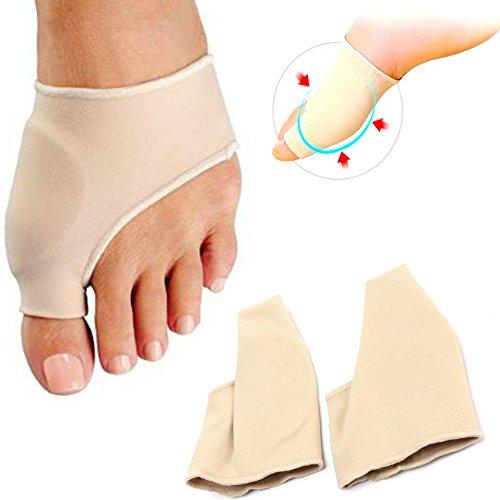 Coppia protezione e riduzione dell'attrito alluce valgo per alluce cipolla con cuscinetto in gel silicone di 5 mm