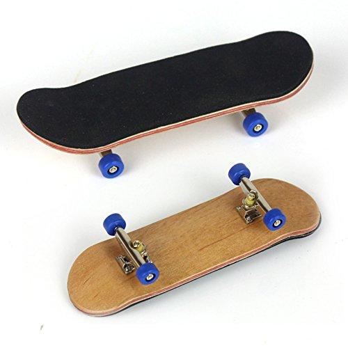 Sunshay Mini Finger Skateboard pour Tech Deck Stands d'alliage Classic Boys Toys Bois Fingerboard (Bleu foncé)