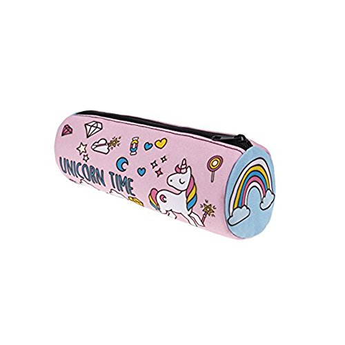 FrohLila Einhorn 3D gedruckt Bleistift Feder Tasche Kosmetik Make-up Tool Bag Aufbewahrungstasche Geldbeutel Säule Beutel Kulturbeutel (Make Up Hippie)