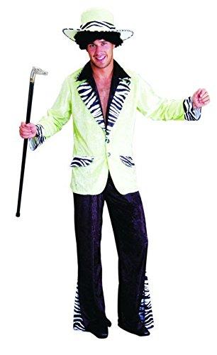 (Foxxeo 10230 | Pimp Daddy Zuhälter Kostüm grün, Größe:XL)