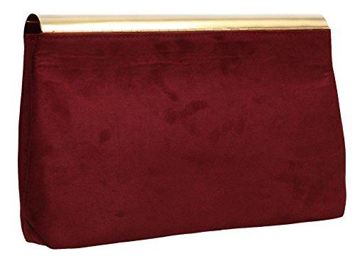 Damen SwankySwans Clutch burgunderfarben One Size 71axqd