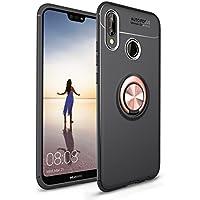 Shinyzone Huawei P20 Lite Hülle,Schwarz und Roségold mit 360 Grad drehbarer Ring Ständer,Ultra Dünn Weich TPU... preisvergleich bei billige-tabletten.eu