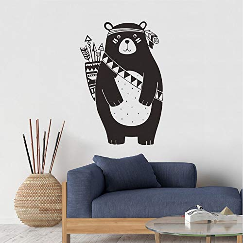 ZYL123 Black Tribe Hunting Arrow Bear Wandaufkleber Kinderzimmer Baby Schlafzimmer Korridor Dekoration Abnehmbare Abziehbilder