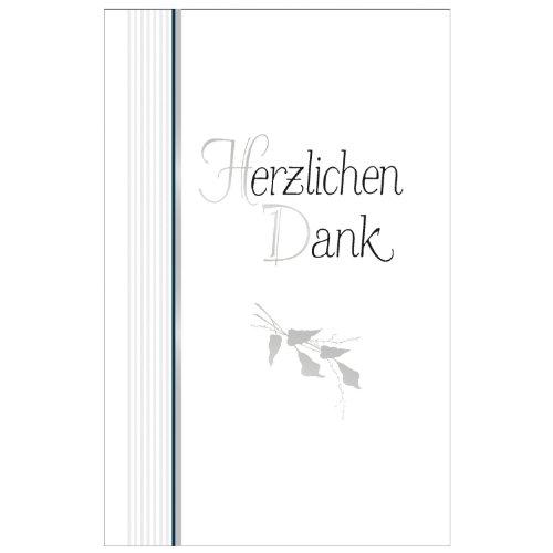Susy Card 11164803 Grußkarte, Danksagung Blätterzweige, 5 Stück