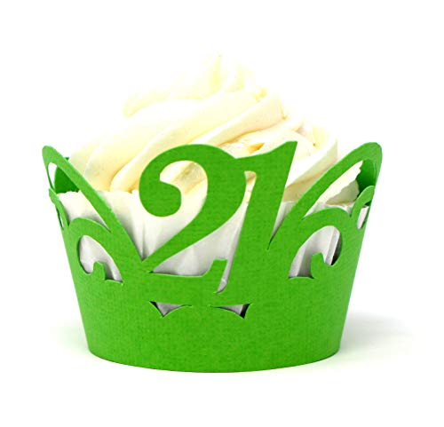 All About Details Cupcake-Förmchen, 21 Stück, 12 Stück grün