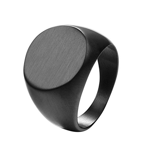 Aeici Titan Ring Herren Leichter Körper Ring Persönlichkeit Modus Drei Farbe Runder Schwarz Breit 1.6Cm Größe 62 (19.7)