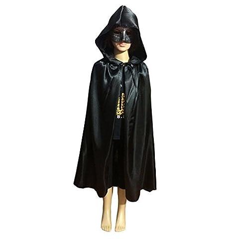 Seasofbeauty Umhänge Kapuzenumhang Cape Coat Hexe Kind Halloween Kostüm Cosplay Unisex Satin (In Halloween Kostüme)