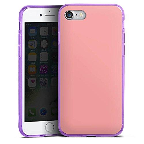 Apple iPhone 8 Silikon Hülle Case Schutzhülle Lachs helles Pink Rosa Silikon Colour Case lila
