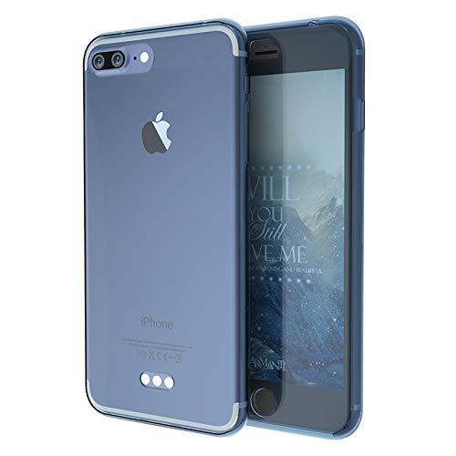 Dulaxie - Mode 360   Grad Vollkörper-Schutz-Abdeckung Cases für iPhone 5S SE 6 6S 6Splus 7 7plus weiches TPU Gel-Kasten-Silikon-Gummi [blau für iPhone7] - 6 Iphone Otterbox-fälle Blau