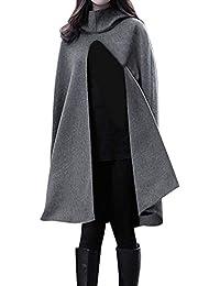ce01f1ef18ec83 NPRADLA 2018 Mittelalter Umhang Damen Kapuze Einfarbig Elegant Frauen  Trenchcoat Open Front Cardigan Jacke Mantel Cape…