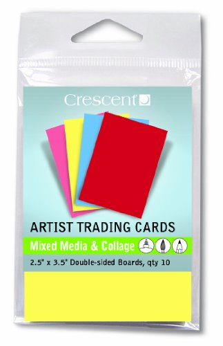 Artist Trading Card (Crescent : Artist Trading Cards : Mixed Media Bright Assorted Colours/Double Sided : 2.5x3.5in : Pack 10)