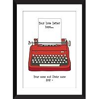 Lettre d'amour personnalisée - Unframed Imprimer - Personalised Love Letter