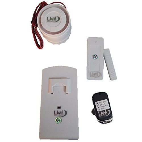 KIT Solar Plus M2E Antifurto Allarme Casa LKM Security Kit Wireless Senza Fili Controllabile da Cellulare con App Gratuita. Kit con Sirena Solare