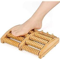 MM Grand pied masseur double pieds rouleau de massage en bois bambou pied massage douleur