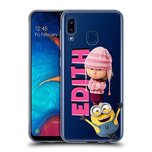 Head Case Designs Offizielle Despicable Me Edith Gru's Familie Soft Gel Huelle kompatibel mit Samsung Galaxy A20 / A30 (2019) (Me Despicable Edith)