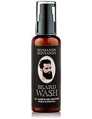 Benjamin Bernard - Shampoing 2 en 1 pour barbe - shampoing et après-shampoing - huiles 100 % naturelles/sans sulfates ni parabènes - 100 ml