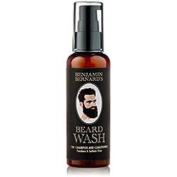 Benjamin Bernard Bartshampoo - 2-in-1 Shampoo & Spülung - hergestellt mit 100 % natürlichen Ölen - paraben- & sulfatfrei - 100 ml